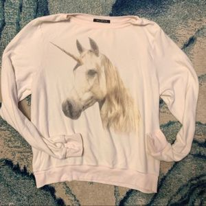 Wildfox unicorn sweatshirt size large